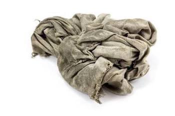 old rag or old cloth for leather care